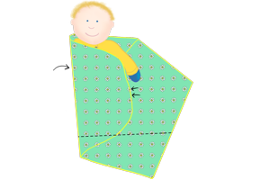 How to Swaddle Step 2